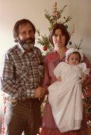 Dad and Debbie at Melonie baptism 1981