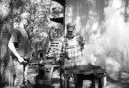 Dad and Ry blacksmithing 2