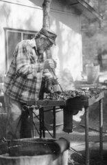 Dad and Ry blacksmithing 4